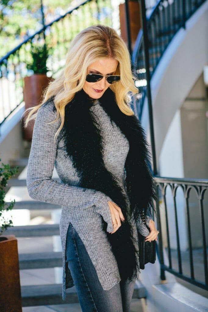 Zara gray sweater 1