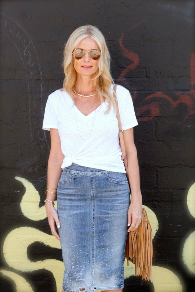 citizens of humanity jean skirt 1