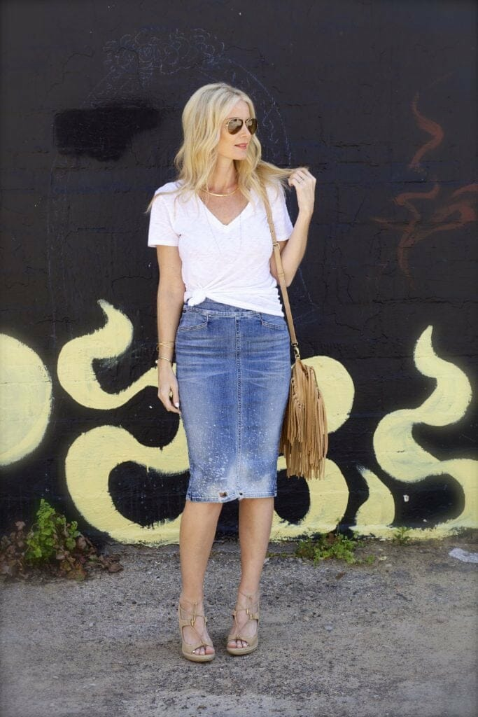 citizens of humanity jean skirt 5