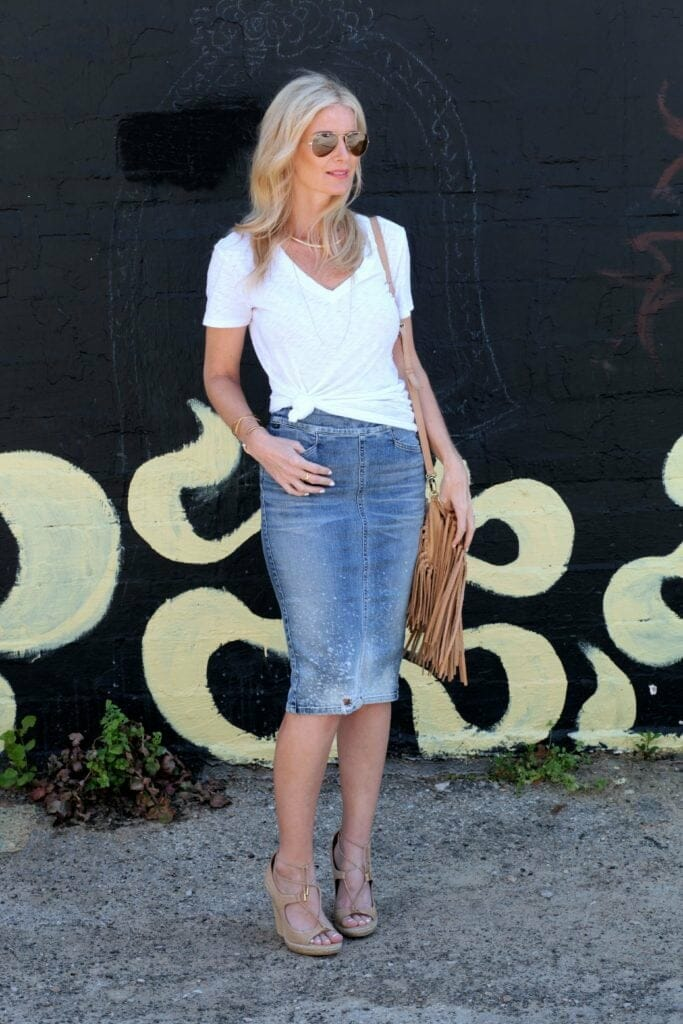 citizens of humanity jean skirt 6