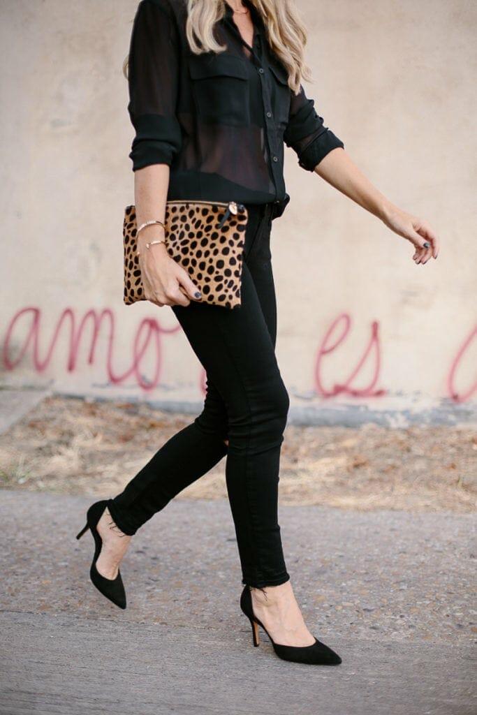 Paige denim black skinny jeans 5