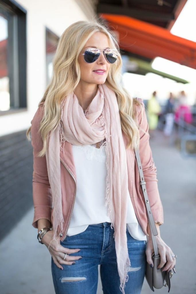 iro pink leather jacket 1
