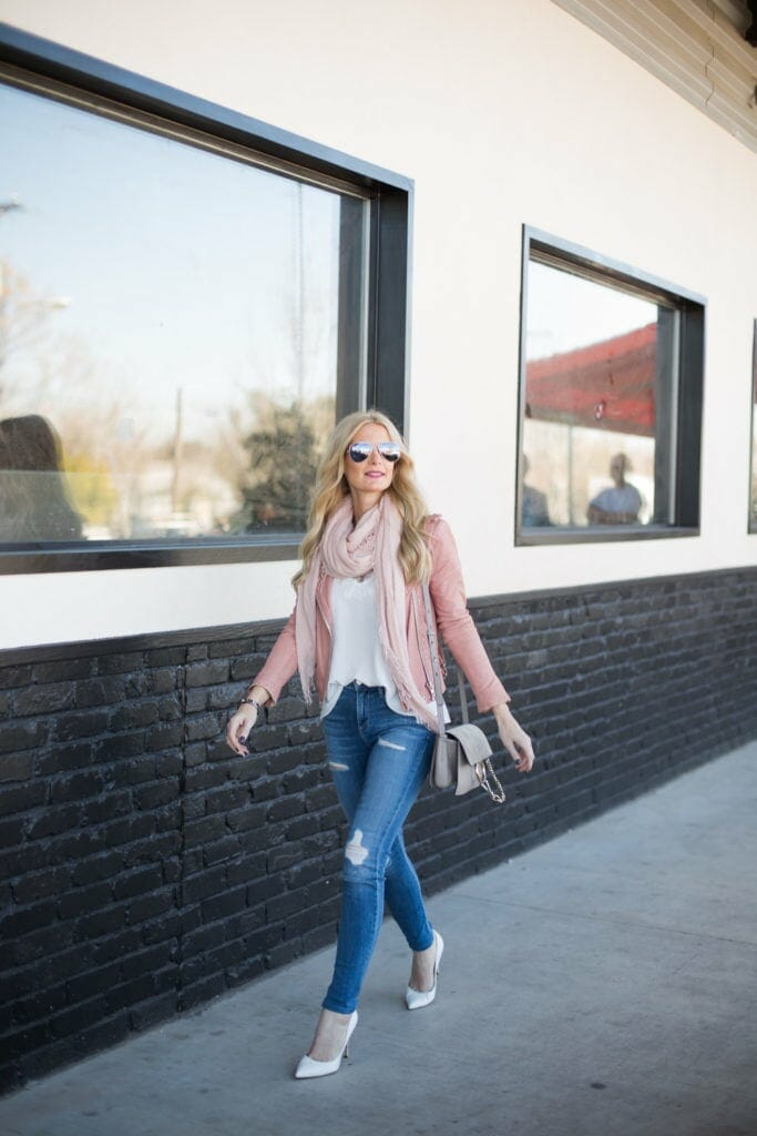 iro pink leather jacket 4