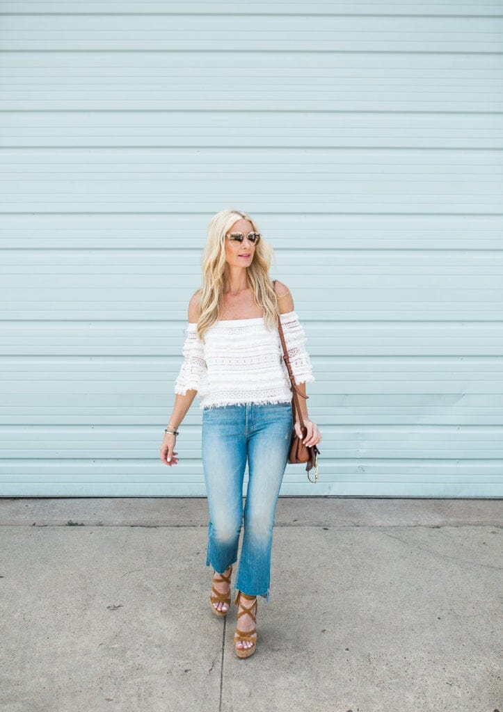 Mother Denim Cropped Flares, Heather Anderson, Dallas Fashion Blogger