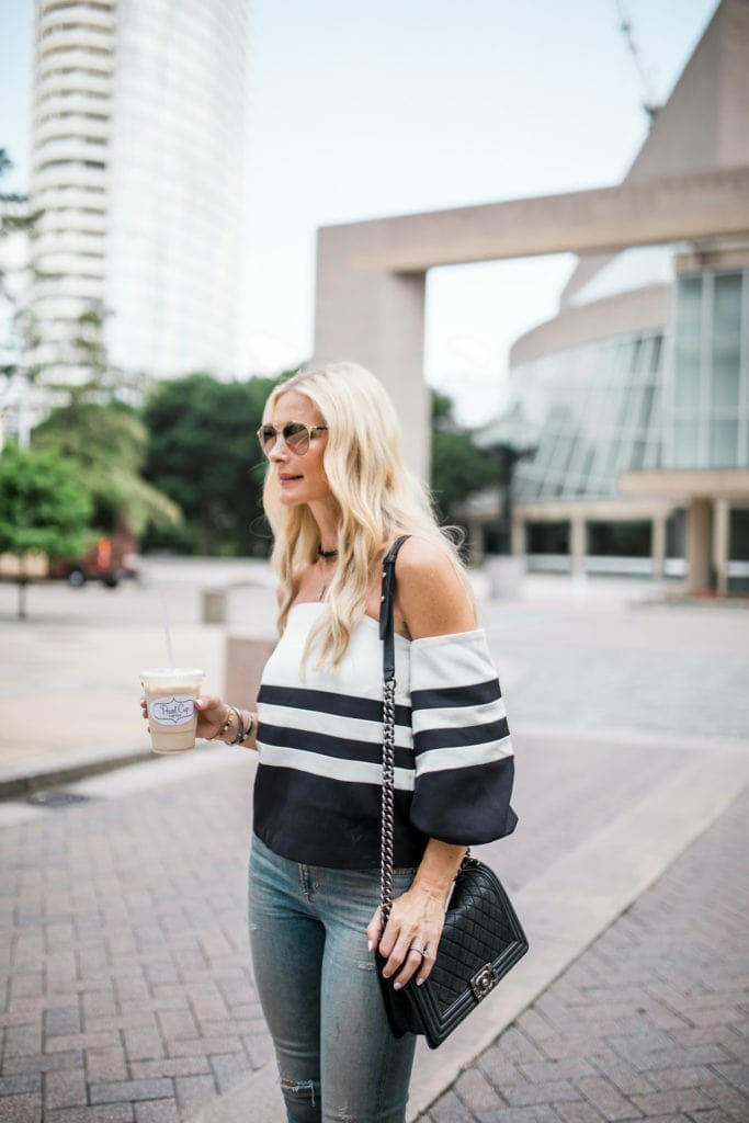 Chic Wish Top, Chanel Boybag, Dallas Style Blogger