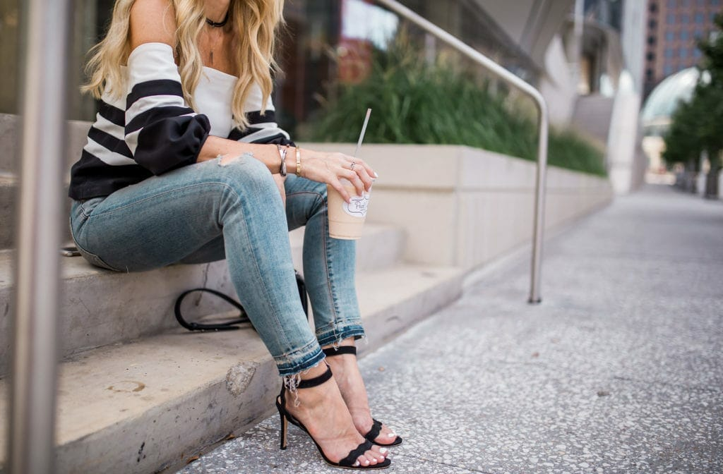 Off the Shoulder Top, Citizens of Humanity Jeans, Heather Anderson