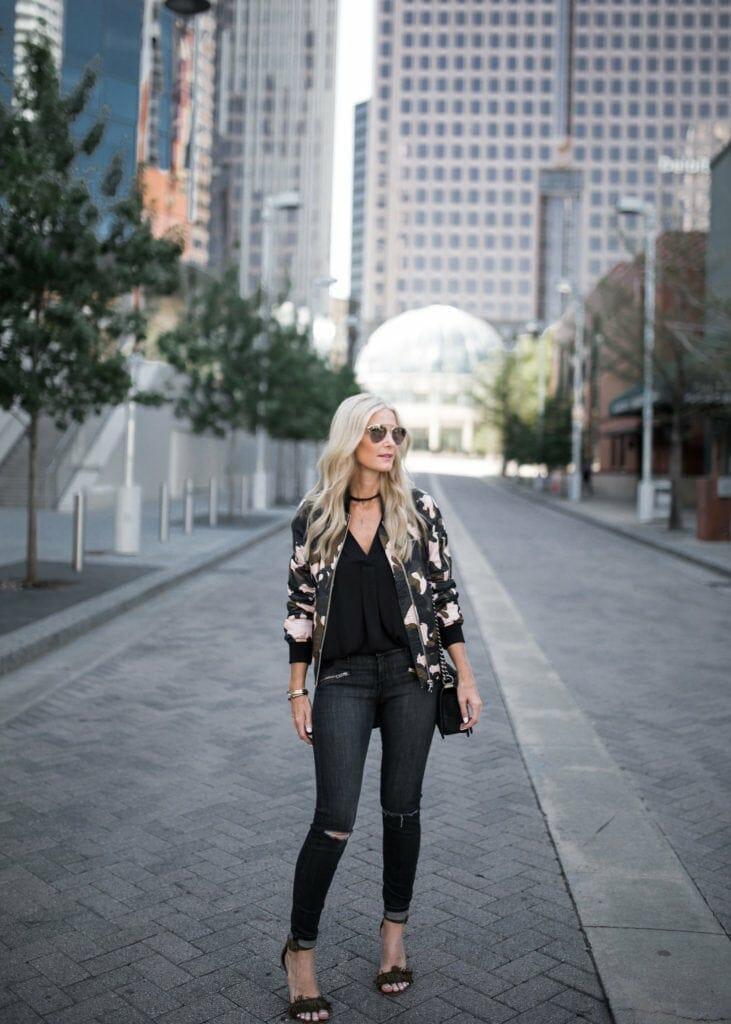 Bomber Jacket, Current Elliott Jeans, Heather Anderson