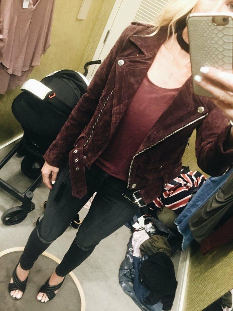 Suede Moto Jacket, Dallas Style Blogger, Topshop Sale, N Sale