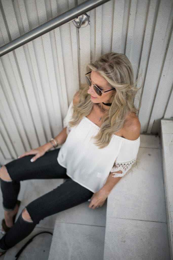 Off the Shoudler Top, Heather Anderson, Dallas Style Blogger