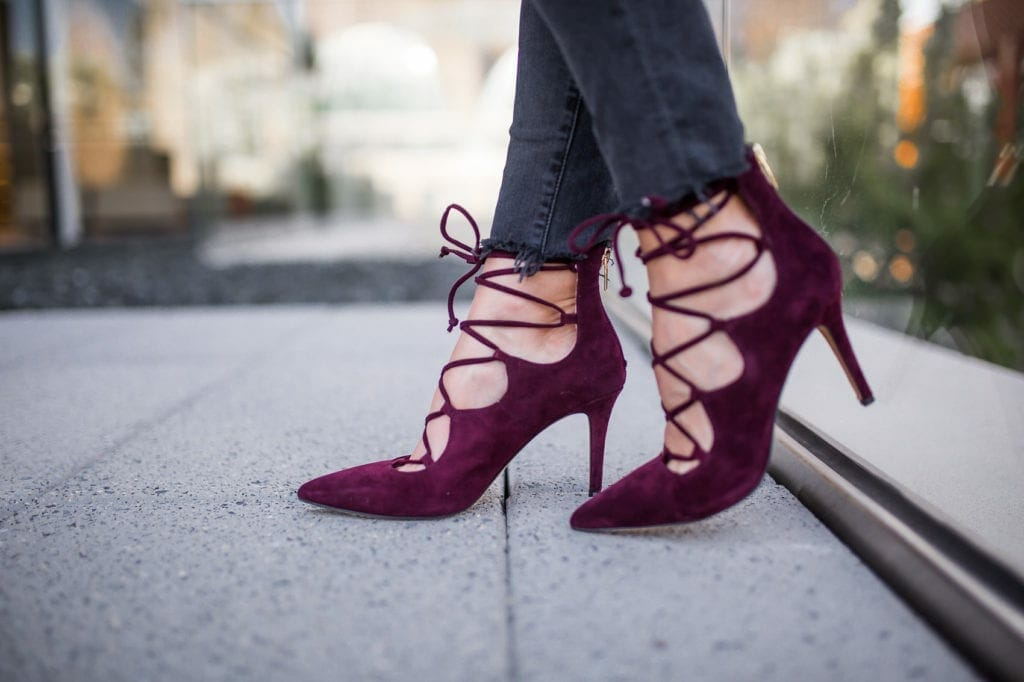 J Brand Jeans, Lace-Up Heels, Heather Anderson