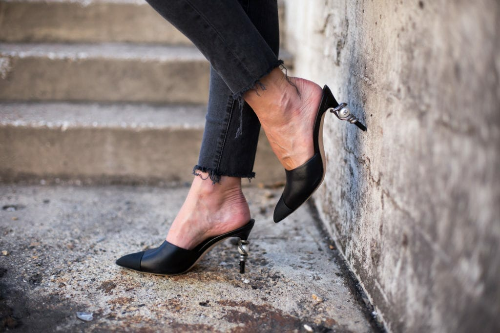 Chanel Mules, Black Ripped Jeans, Dallas Style Blogger