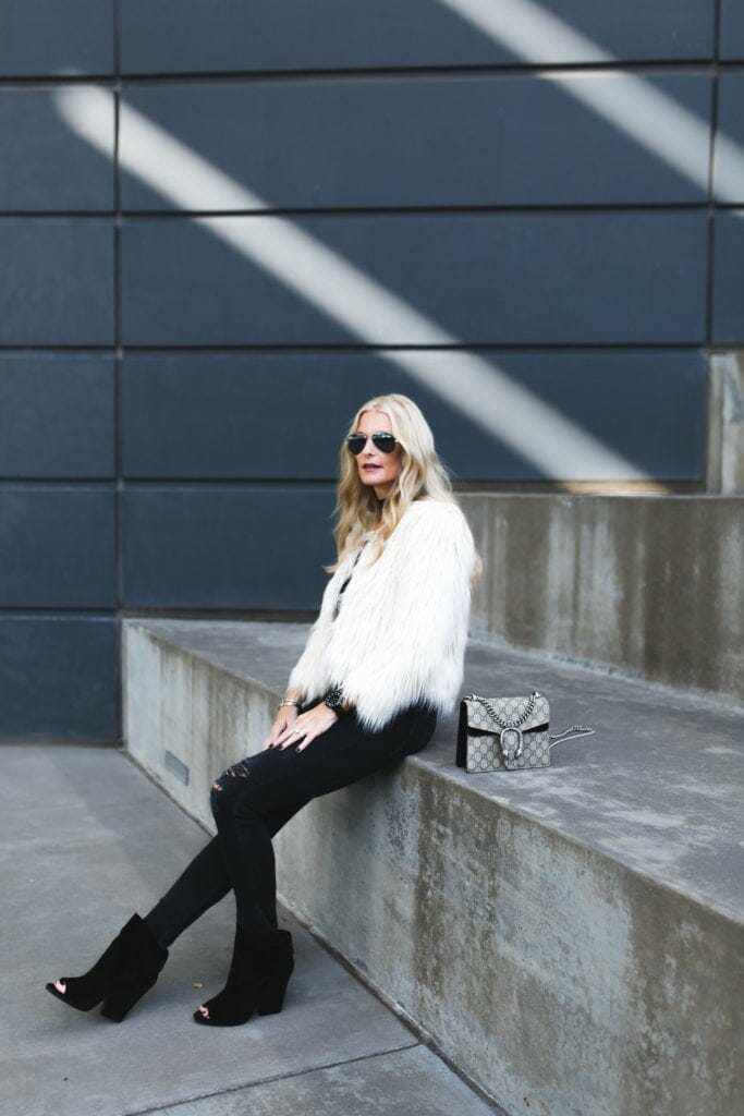 Heather Anderson, Dallas Fashion Blogger, Mother Denim Faux Fur Jacket