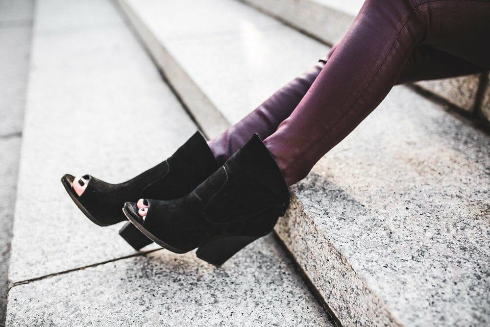 AG Burgundy Leatherette Leggings
