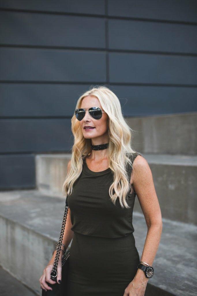 Heather Anderson, Dallas Style Blogger, Fitted Midi Dress