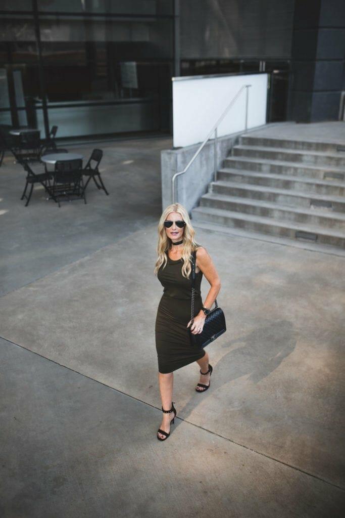 Leith Midi Dress, Dallas Fashion Blogger, Heather Anderson