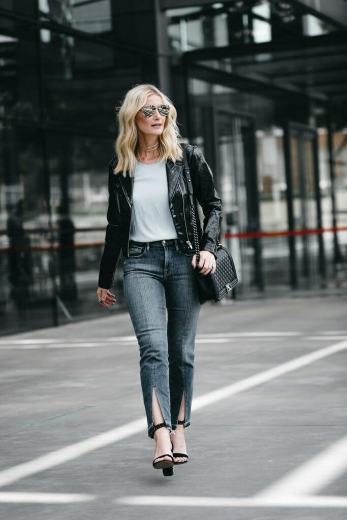 Veda Black Leather Jacket