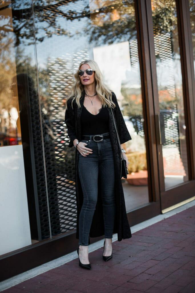 Black Kimono Outfit, Dallas Fashion Blogger, Style blogger