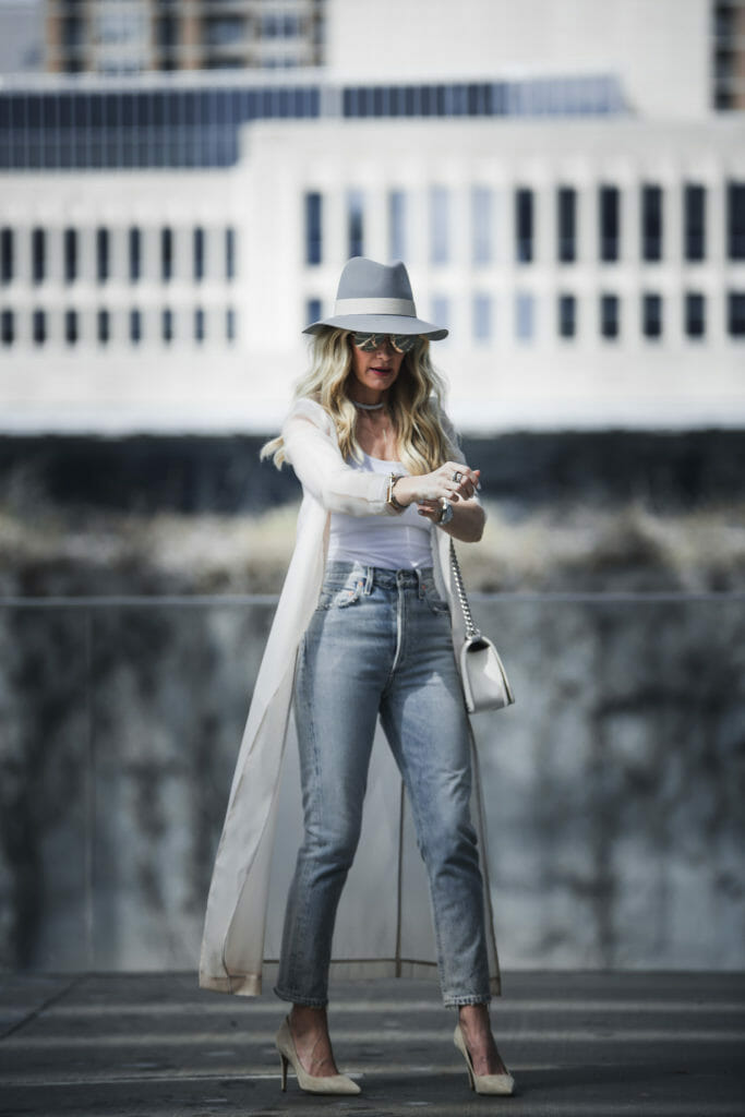 Heather Anderson wearing a rag and bone hat