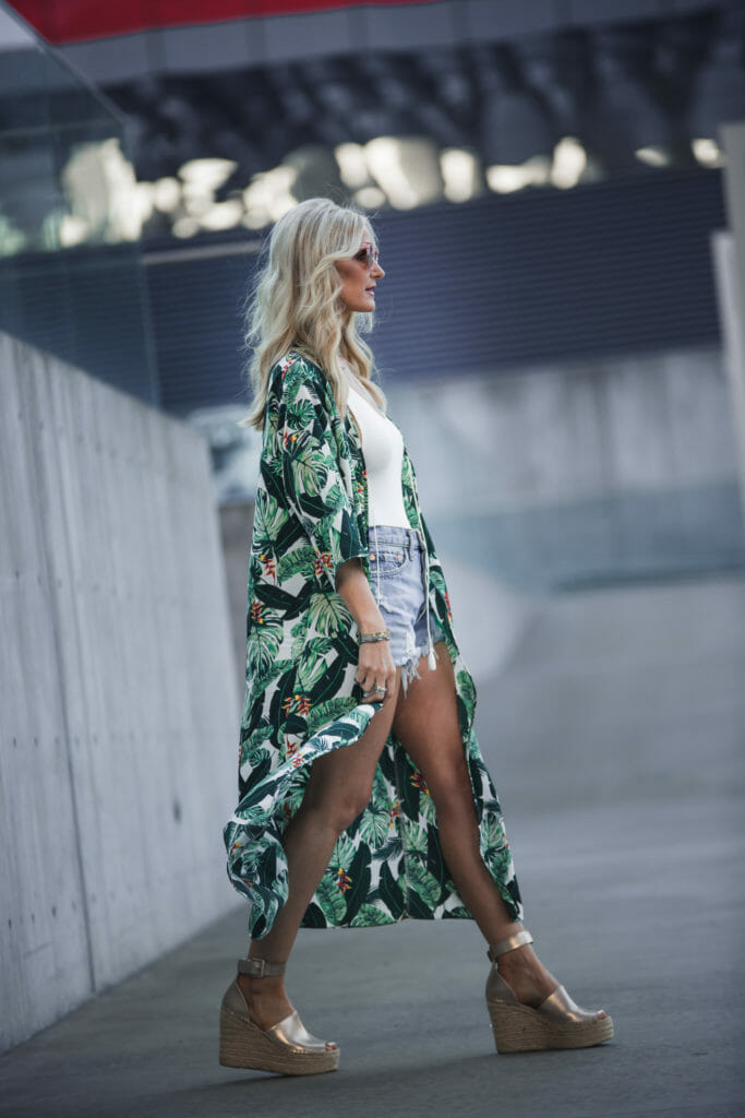 Printed duster from Rachel Zoe's fashion subscription box