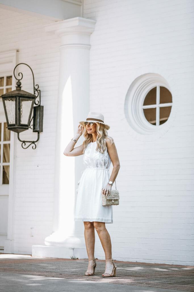 J Jill White Casual Summer Dress