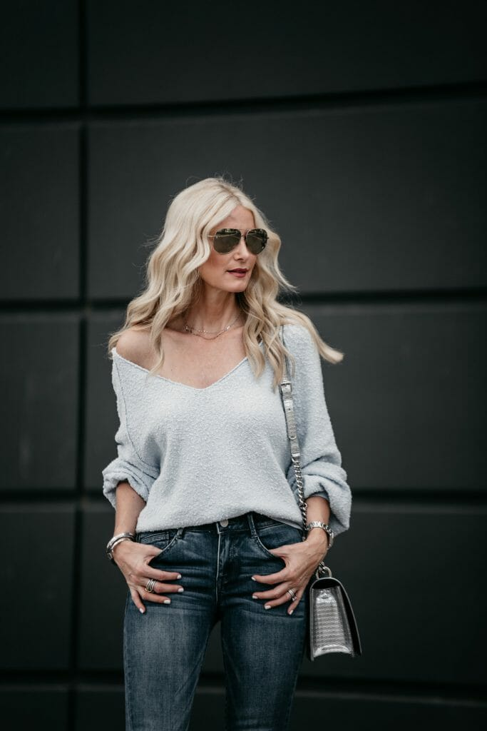 Off the shoulder sweater part of the Nordstrom Anniversary Sale