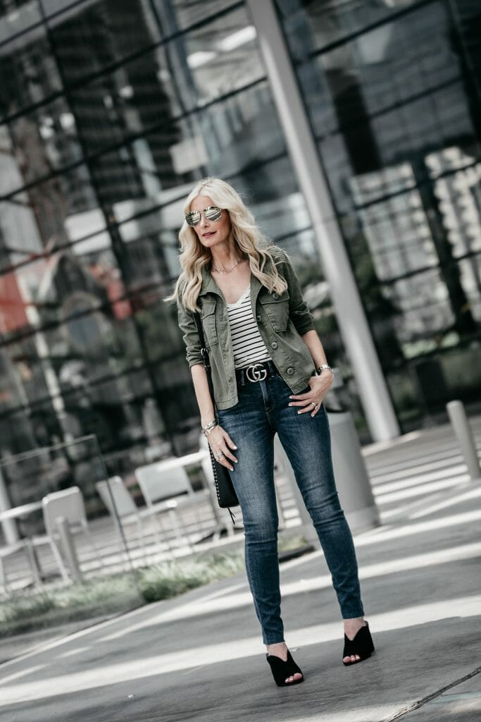 Nordstrom Anniversary sale jeans and army jacket
