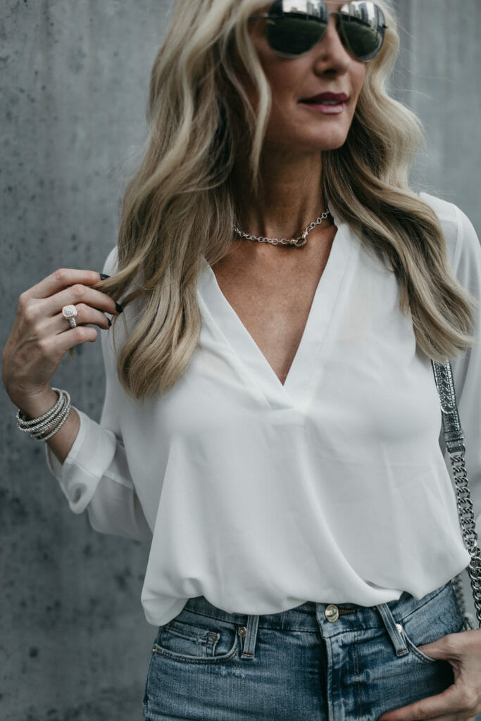 Dallas Style blogger wearing Vahan jewelry