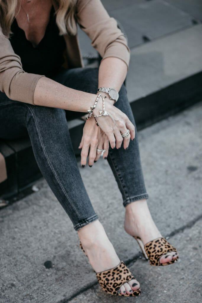 J Jill Bracelet and Leopard Heels
