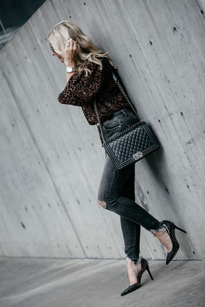 Chanel Boy Bag on Dallas fashion blogger