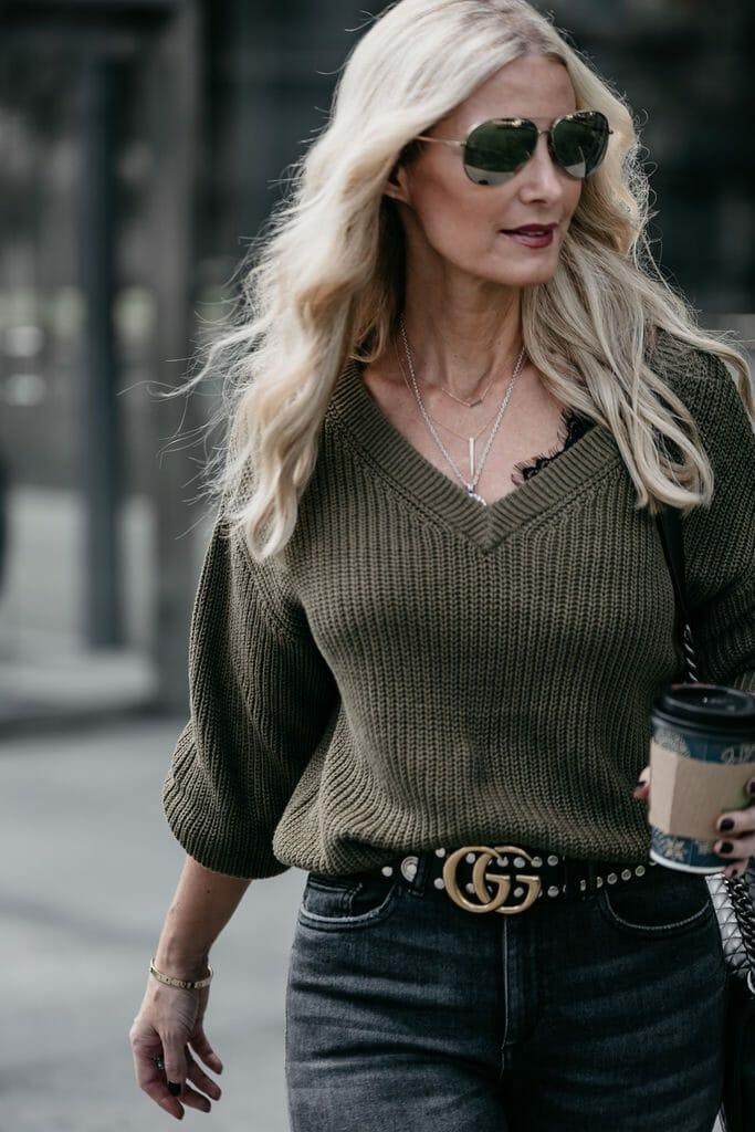 Anine Bing bra on Dallas style blogger