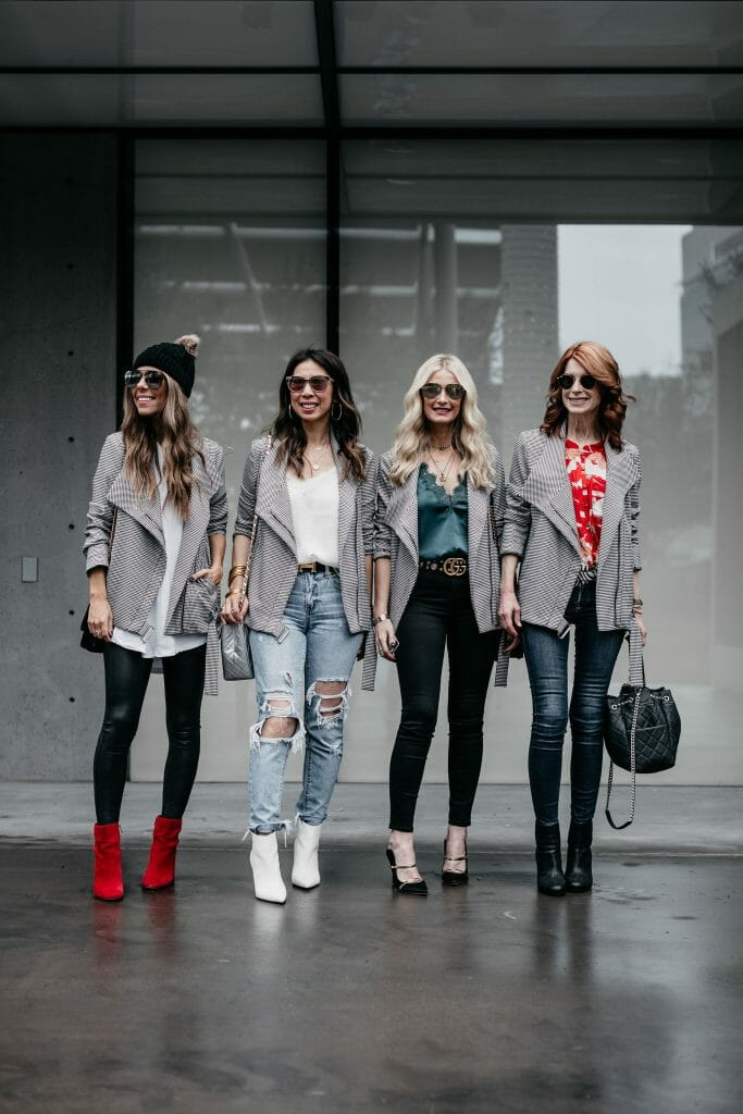 Dallas style bloggers wearing an over-sized moto jacket