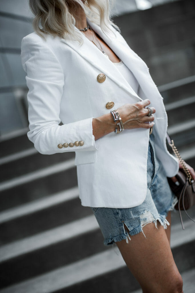 How to style denim shorts over age 40