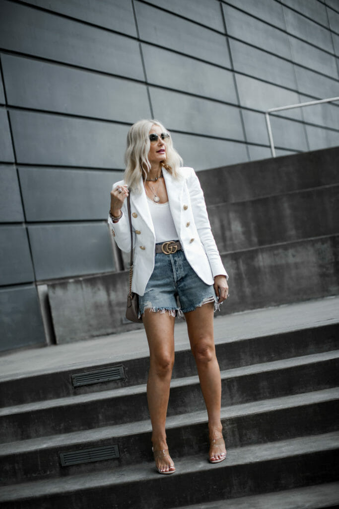 How to wear denim shorts over 40