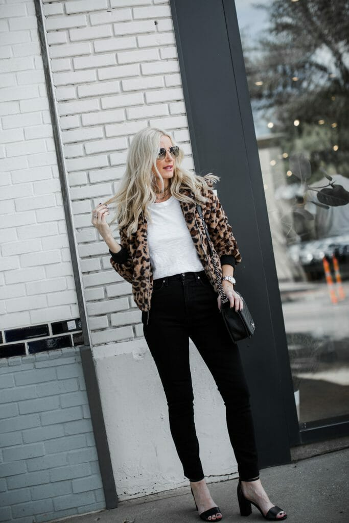 How to wear a leopard teddy coat over 40